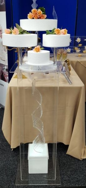 4 Tier cake stand & display plinth : Swipe To View More Images