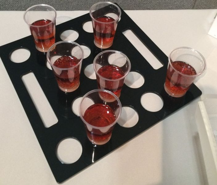 Shot glass tray : Swipe To View More Images