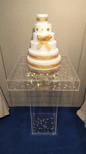 Cake table with display top : Swipe To View More Images