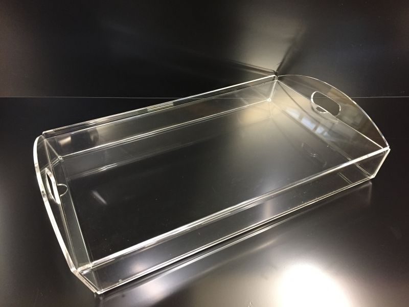 Clear canapé tray with lift out lid : Swipe To View More Images